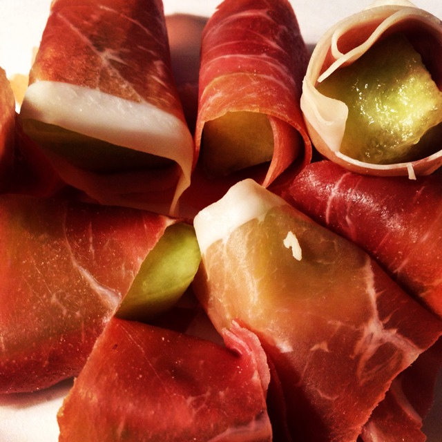 Prosciutto Wrapped Honeydew