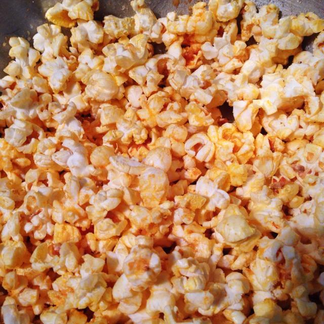 Spicy Parmesan Popcorn