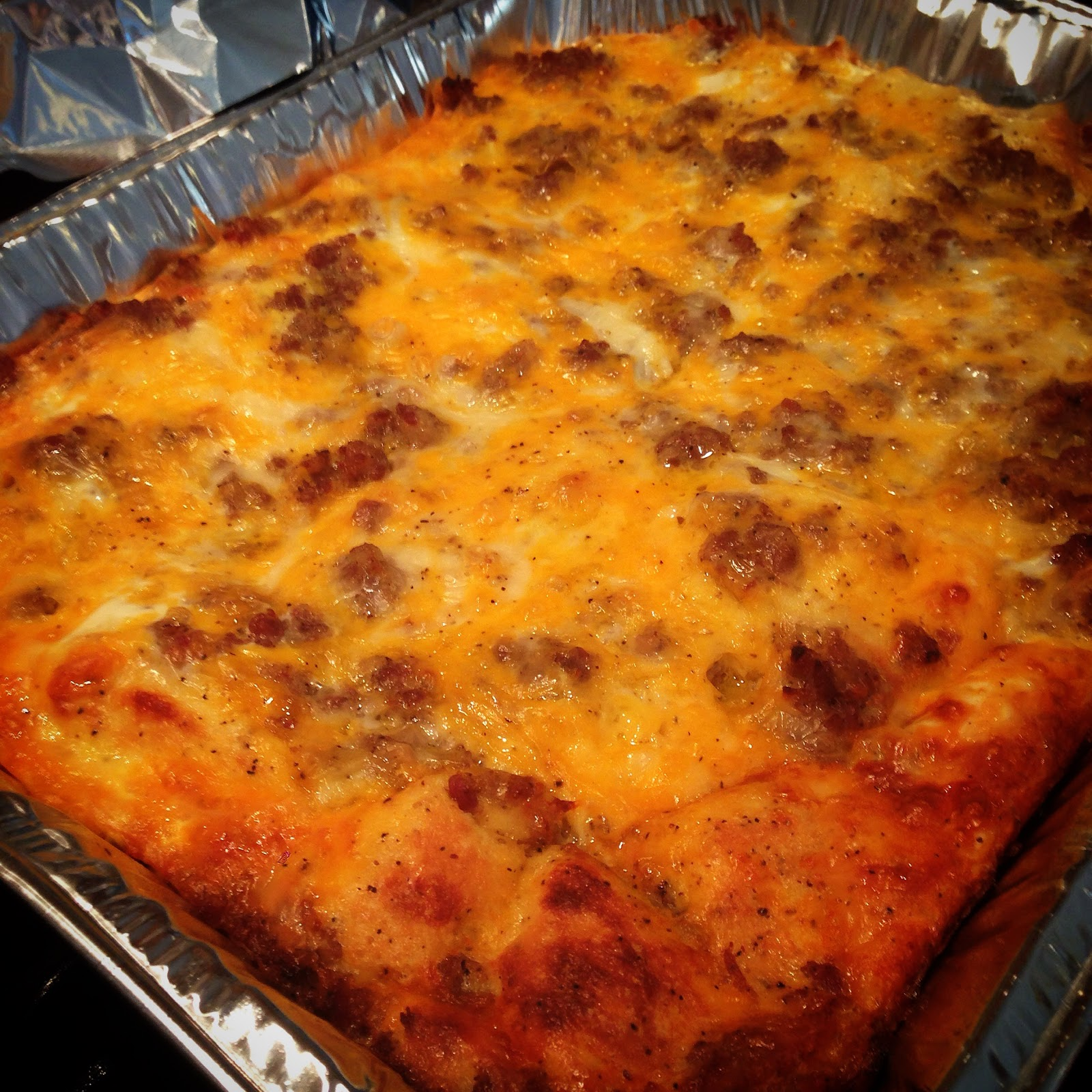 Breakfast Casserole; Perfect for Holidays and Tailgates