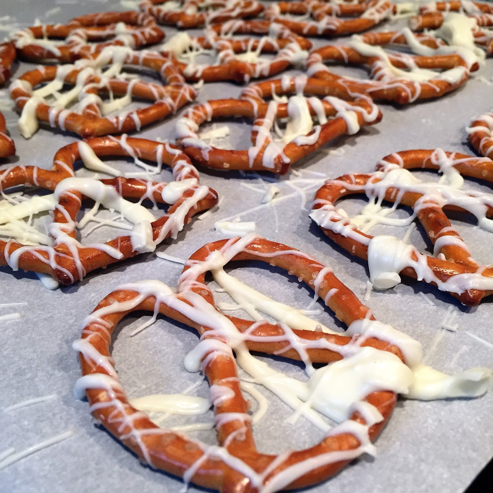 White Chocolate Covered Pretzels
