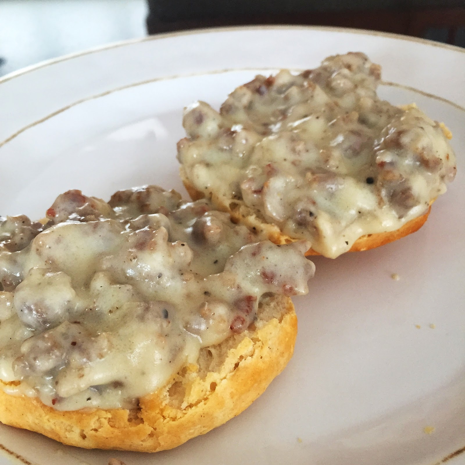 Biscuits and Gravy….Breakfast of Champions!!!