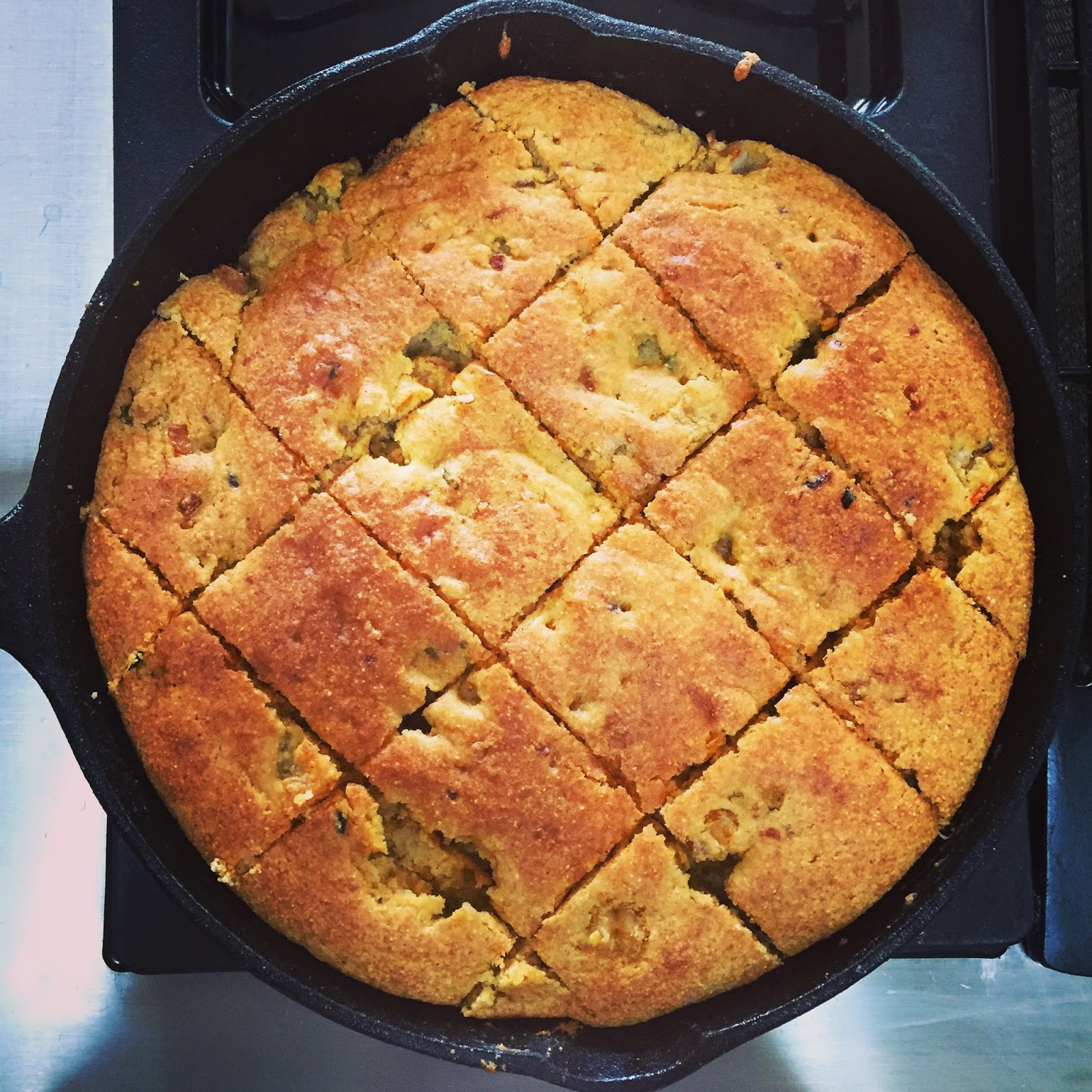 Gluten Free Crawfish Cornbread….No Words But Delicious!!!