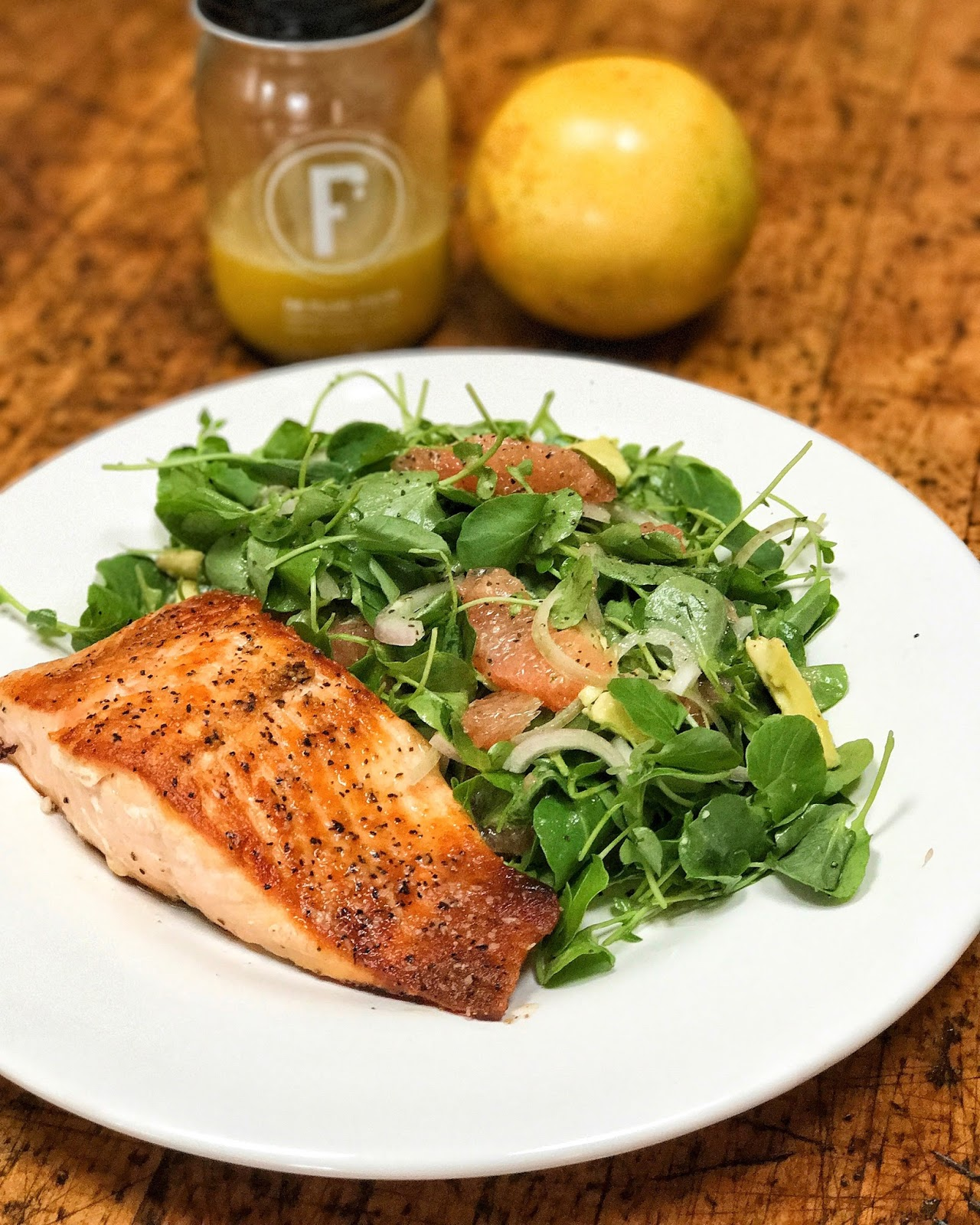 Grapefruit Avocado Salmon Salad…New Year, New You!!!