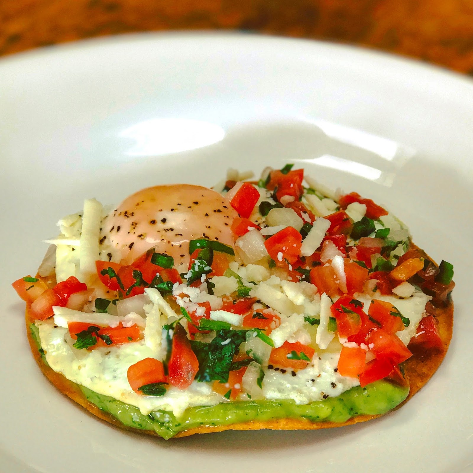 Transforming Leftovers into Breakfast….Fried Egg Tostada!
