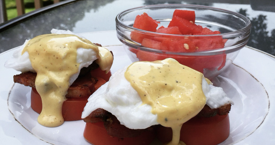 No Carb, Gluten Free Eggs Benedict!