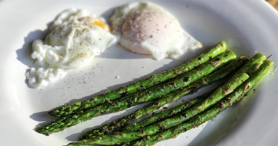 Poached Eggs with Asparagus…Carb Free Morning!