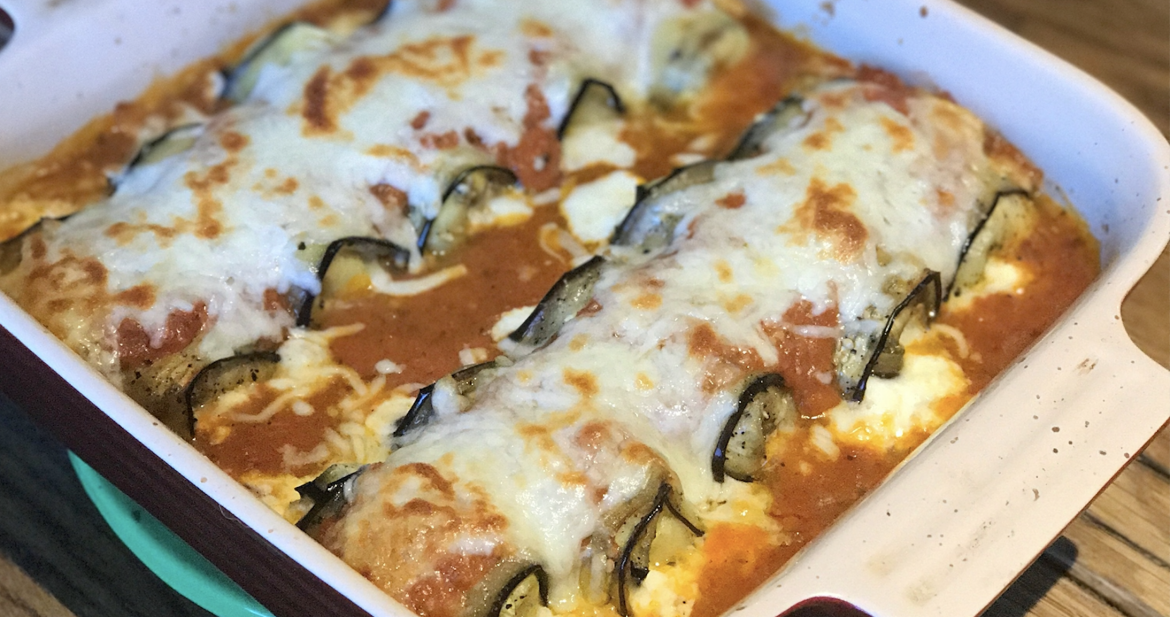 Eggplant Rollatini…Gluten Free and Meat Free Meal!