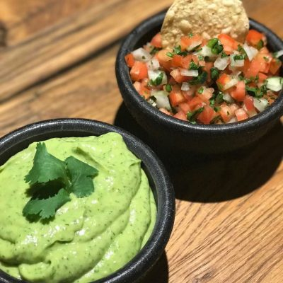 What's a Better Duo than Peanut Better and Jelly…..Pico De Gallo & Avocado Green Sauce