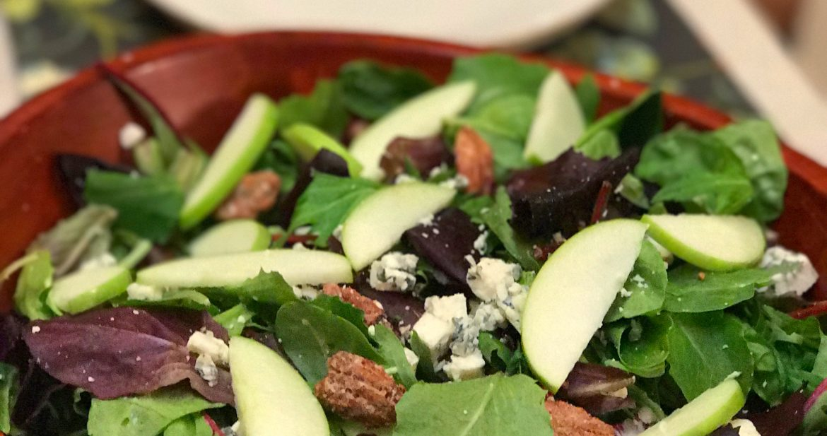 Spiced Pecan and Apple Salad…Healthy!!!