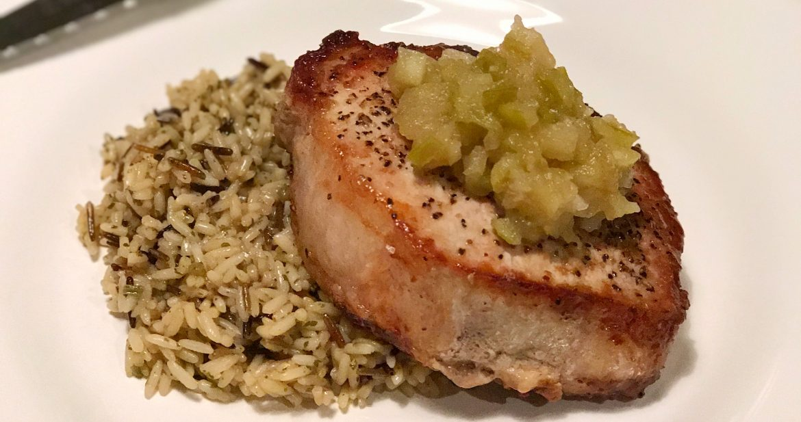 Pork Chops and Apple Chutney…A New Version of an Old Classic!