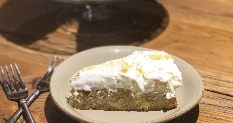 Cheesecake with a Banana Bread Crust!