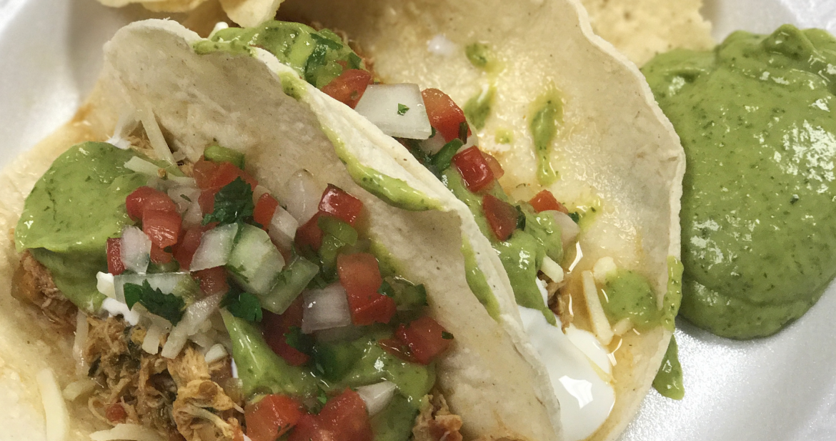 The Perfect Potluck Pulled Chicken Tacos!