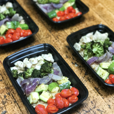 Meal Prepping Made Easy and Healthy…Roasted Chicken, Veggies, and Rice Bowls!